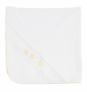 Feltman Brothers Baby Boys / Girls Unisex White / Yellow Chicks Blanket