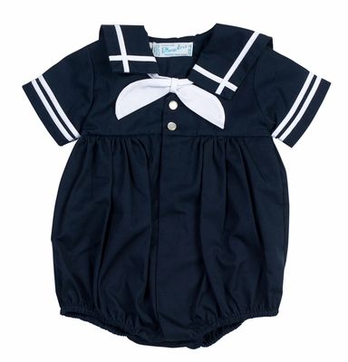 Feltman Brothers Baby Boys Sailor Suit Bubble - Navy Blue