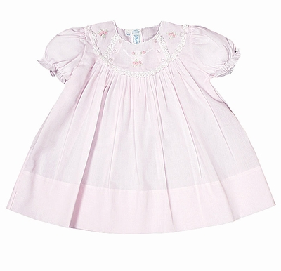 Feltman Brothers Baby Girls Dress with Lace Details - Pink