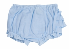 Feltman Brothers Baby Girls Ruffled Diaper Cover - Light Blue