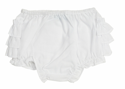Feltman Brothers Baby Girls Ruffled Diaper Cover - White