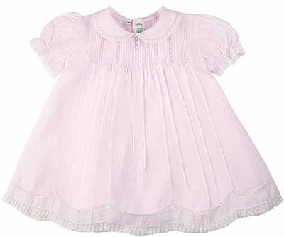 Feltman Brothers Baby Girls Sweet Pink Dress Slip Set With Lace