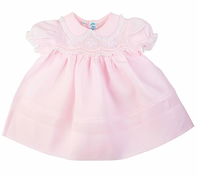 Feltman Brothers Baby Girls Teenie Weenie Take Me Home Dress - Pink with Scallop & Lace