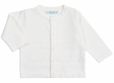 Feltman Brothers Baby / Toddler Girls Classic Cardigan Sweater - White