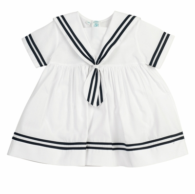 Feltman Brothers Baby / Toddler Girls Sailor Dress - White