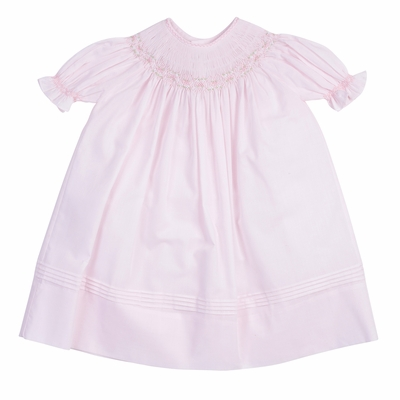 Feltman Brothers Baby / Toddler Girls Smocked Bishop Dress - Pink