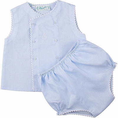 Feltman Brothers Infant Baby Boys Diaper Set with Sailboat & Rick Rack - Blue