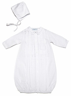 Feltman Brothers Infant Baby Boys Take Me Home Gown with Hat - White