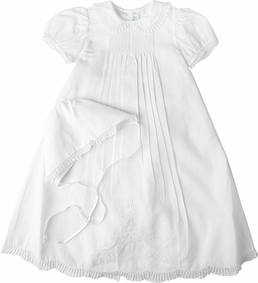 6a717fa82c3 Feltman Brothers Infant Baby Girls White Christening Gown with Hat