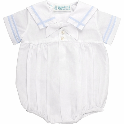 Feltman Brothers Infant Boys Sailor Suit Bubble - White