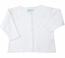Feltman Brothers Infant Girls Cardigan Sweater - White