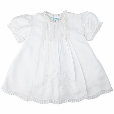 Feltman Brothers Infant Girls Sweet White Embroidered Slip Dress