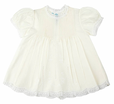 Feltman Brothers Newborn Baby Girls Take Me Home Dress with Slip - Maize Yellow