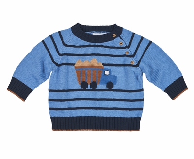 Florence Eiseman Baby and Toddler Dump Truck Sweater