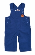 Florence Eiseman Baby Boys Royal Blue Corduroy Longall with Sports Balls