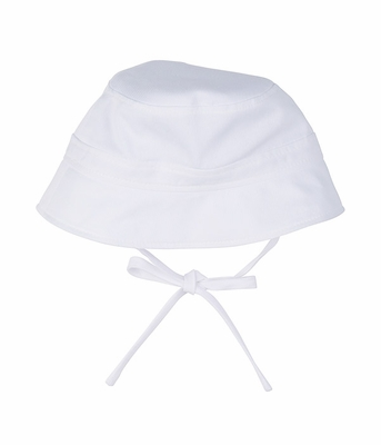 af2e3066937fa Florence Eiseman Baby Boys White Fine Wale Pique Bucket Hat