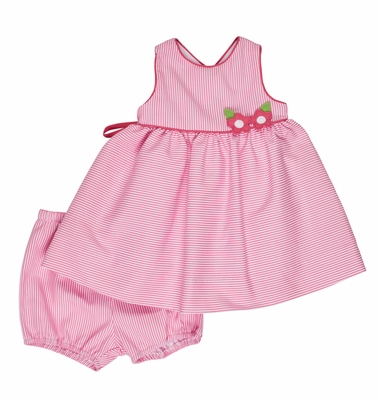 Florence Eiseman Baby Girls Hot Pink Ottoman Dress with Bloomers