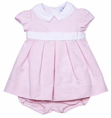 Florence Eiseman Baby Girls Pink Ottoman Easter Dress with Bloomers