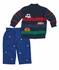 Florence Eiseman Baby / Toddler Boys Blue / Green / Red Intarsia Sports Balls Sweater