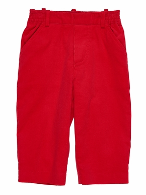 Florence Eiseman Baby / Toddler Boys Red Corduroy Pull On Pants with Faux Fly