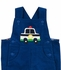 Florence Eiseman Baby / Toddler Boys Royal Blue Corduroy Police Car Longall with Shirt