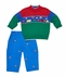 Florence Eiseman Baby / Toddler Boys Royal Blue Corduroy Pants with Embroidered Helicopters