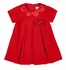 Florence Eiseman Baby / Toddler Girls Red Velvet Christmas Dress - Satin Scallop Collar