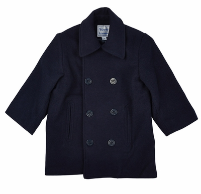 819124564 Florence Eiseman Boys or Girls Classic Wool   Cashmere Navy Blue Pea ...