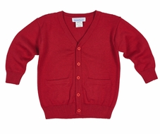 Florence Eiseman Cardigan Sweater for Boys - Christmas Red