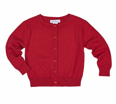 Florence Eiseman Cardigan Sweater for Girls - Christmas Red