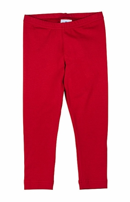 Florence Eiseman Girls Cotton / Spandex Leggings - Red