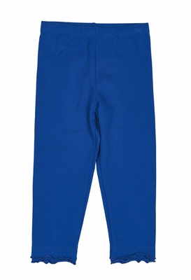 Florence Eiseman Girls Cotton / Spandex Ruffle Leggings - Royal Blue