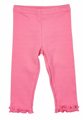 Florence Eiseman Girls Medium Pink Leggings with Hem Ruffles