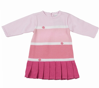 Florence Eiseman Girls Multi Shades of Pink Sweater Dress