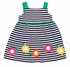 Florence Eiseman Girls Navy Blue Striped Knit Dress - Colorful Flowers