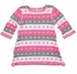 Florence Eiseman Girls Pink / Gray / Ivory Hearts Sweater Dress - It's Reversible