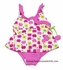 Florence Eiseman Girls Pink / Green Apple Print Tankini Two Piece Swimsuit