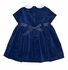 Florence Eiseman Girls Royal Blue Velvet Holiday Dress with Ribbon Bow