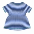 Florence Eiseman Girls Royal Blue / White Striped Knit Cover Up