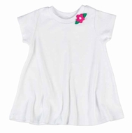 Florence Eiseman Girls White Terry Cover Up - Pink Flower