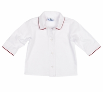 Florence Eiseman Infant / Toddler Boys White Dress Shirt with Red Cording