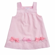 Florence Eiseman Infant / Toddler Girls Pink Corduroy Bows Jumper Dress
