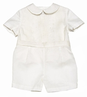 Frankie / Luli Infant / Toddler Boys Dressy Ivory Silk Organza Special Occasion Outfit