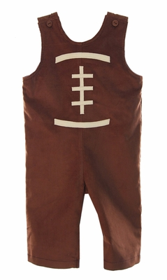 Funtasia Baby / Toddler Boys Brown Corduroy Football Outline Longall