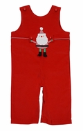 Funtasia Baby / Toddler Boys Red Corduroy Longall - Tab Switches from Santa to Airplane with Heart