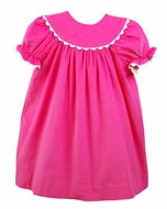 Funtasia Baby / Toddler Girls Hot Pink Corduroy Bishop Dress
