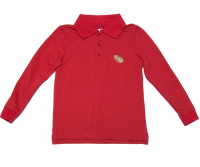 Funtasia Boys Red Polo Shirt - Embroidered Football
