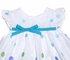 Funtasia Girls White Float Dress with Turquoise & Lime Dots