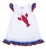 Funtasia Girls White Terry Cover Up Dress - Red Lobster