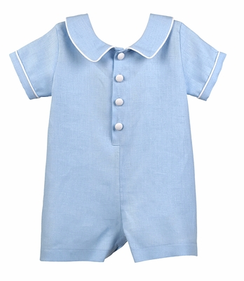 Funtasia Too Baby Boys Blue Linen Blend Romper